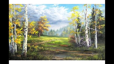 Birch Trees After the Storm   Paint with Kevin - YouTube