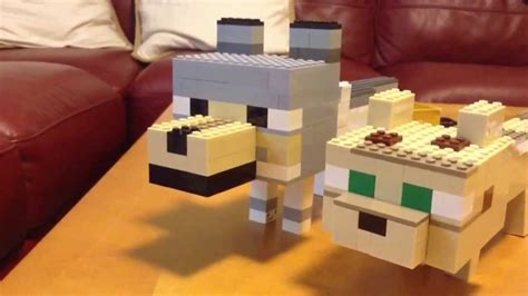 Lego minecraft baby wolf and baby ocelot