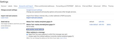 Sending email from another address – Gapps Customer Portal