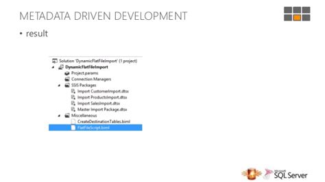 SQL Server Days 2013 - Create ETL solutions faster with