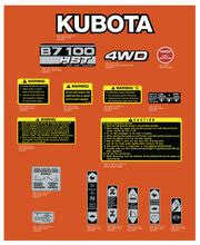Kubota B7-100 Tractor decals - Vintage Reproductions