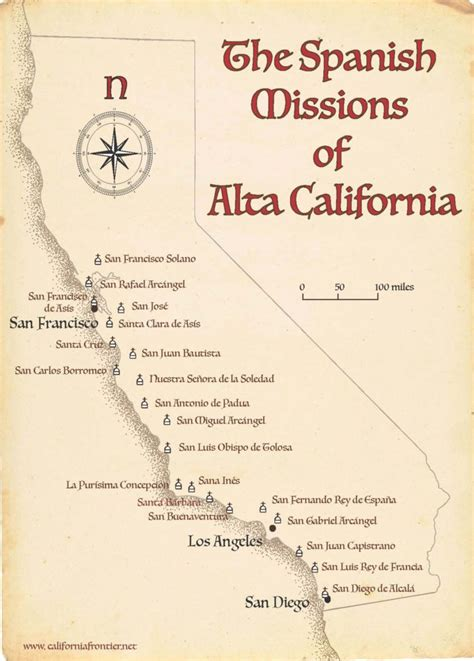 California Missions Map - The California Frontier Project