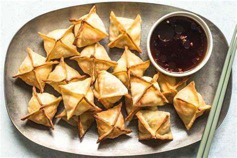 Baked Vegetable and Cream Cheese Wontons Recipe